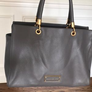 Marc by Marc Jacobs tote, faded Aluminum